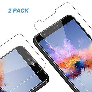 Vkaiy Protector de Pantalla para Huawei Honor 7X, Cristal Templado para Honor 7X, 9H Dureza, Anti Dactilares, Alta Definición, 2.5d Borde Redondo, ...