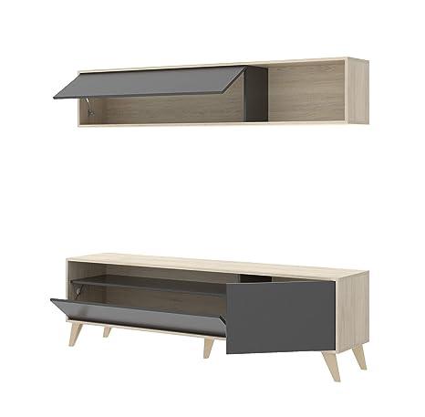 HOGAR24 ES Modelo Bonn Mueble de Salón-Comedor TV. Color ...