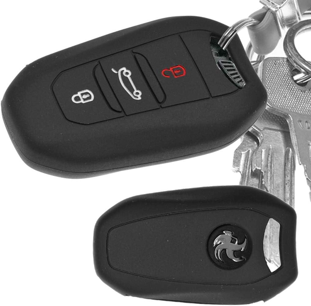 Auto Schlüssel Hülle Silikon Schutz Cover Schwarz Für Elektronik