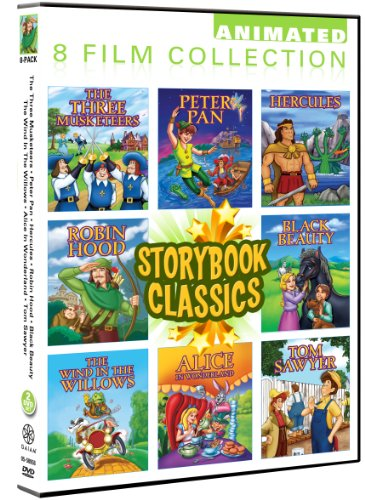 (Storybook Classics 8 Pack: Black Beauty, Peter Pan, Hercules, Robin Hood, Three Musketeers, Wind In The Willows, Alice In Wonderland, Tom Sawyer)