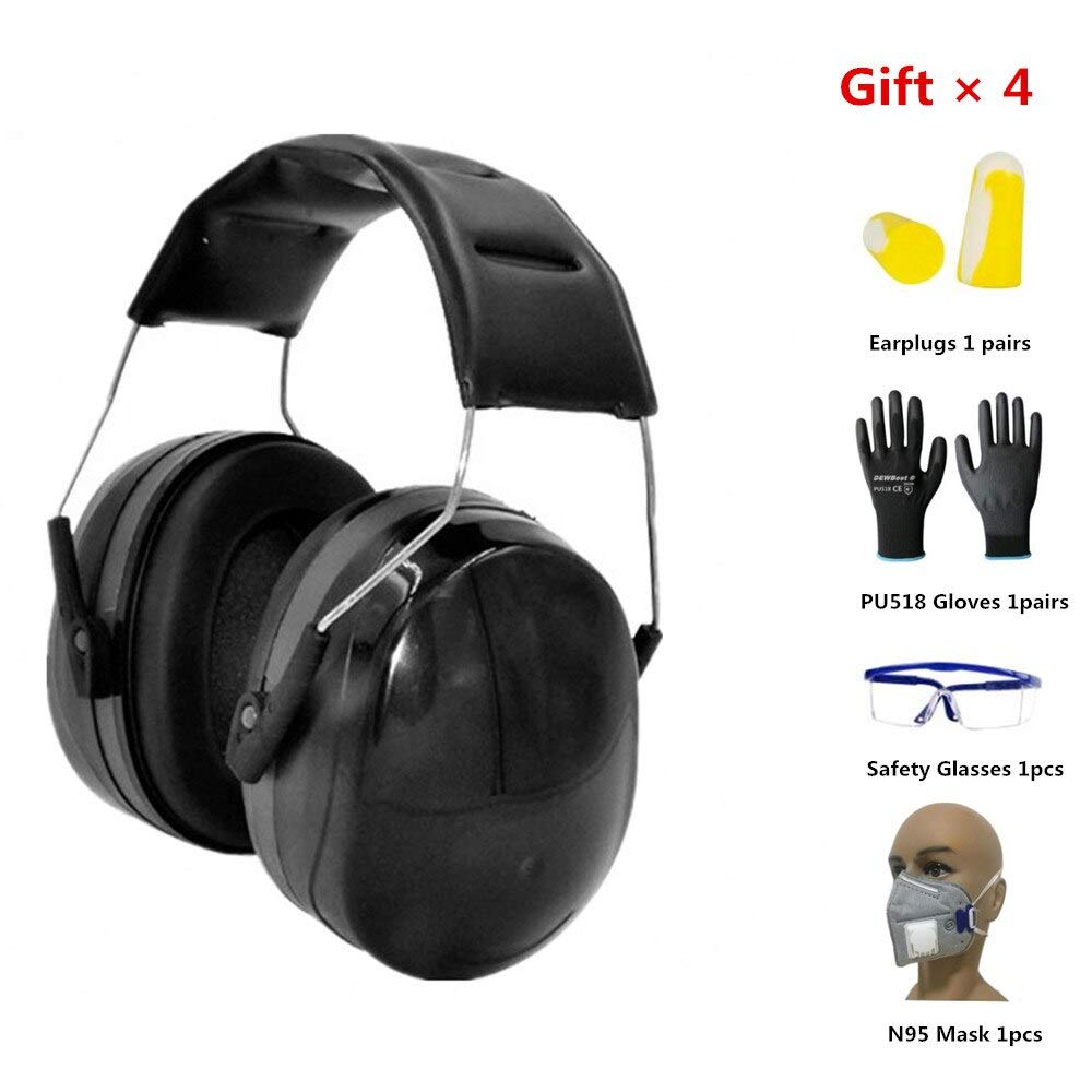 Anti-Noise Head Earmuffs Foldable Ear Protector 35dB For Adults Study Sleeping Work Shooting Hearing Safe Protection by SaTaS