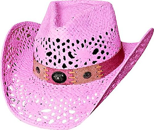 Bullhide Montecarlo Pure Country Toyo Straw Western Hat Pink Small - Straw Toyo Western Hat