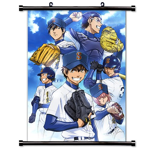 Ace Of Diamond Anime Fabric Wall Scroll Poster  Inches.  Ace