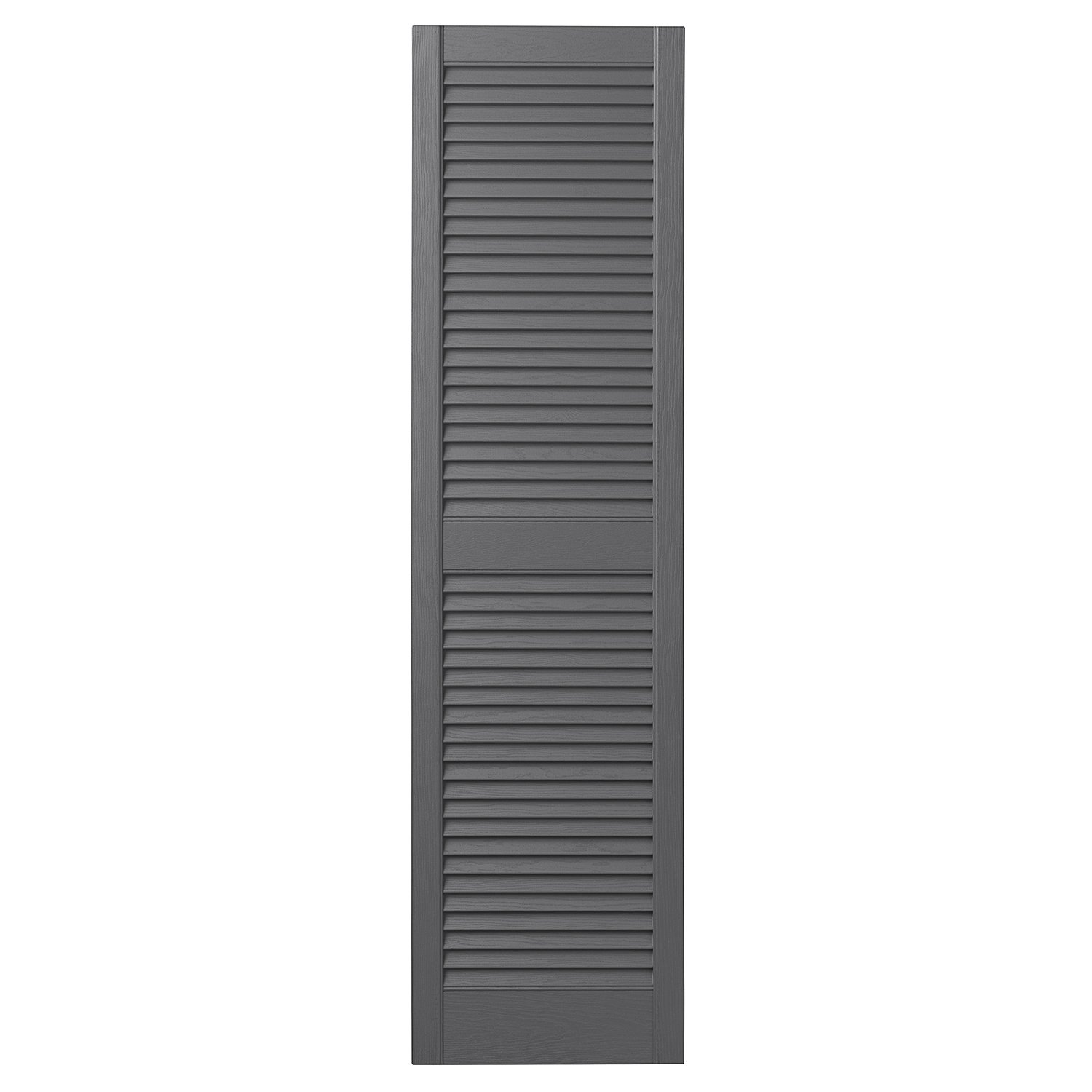 Ply Gem Shutters and Accents VINLV1551 16 Louvered Shutter, 15'', Gray
