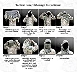 Maddog Sports Shemagh Tactical Desert Scarf - Olive / Black