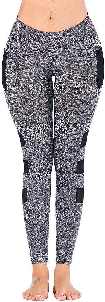 Huazi2 Women High Waist Yoga Sport Pants Side Cell Phone Pockets Leggings