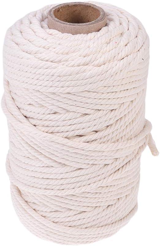 SUPVOX cuerda de tejer torcida de algodón cuerda de hilo diy ...