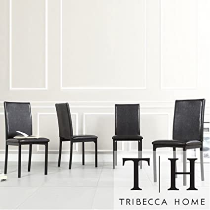 Amazon Com Darcy Espresso Metal Upholstered Dining Chair Set Of 4