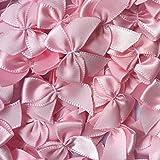 #7: Chenkou Craft 60pcs Mini Satin Ribbon Bows Flowers 1