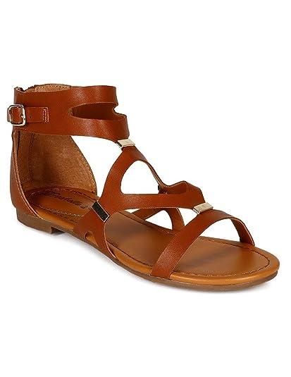 2059aa3ba4271 Breckelle s Women s Ruby-51 Cutout Gladiator Sandal ...