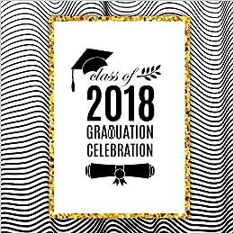 class of 2018 graduation celebration large square message book