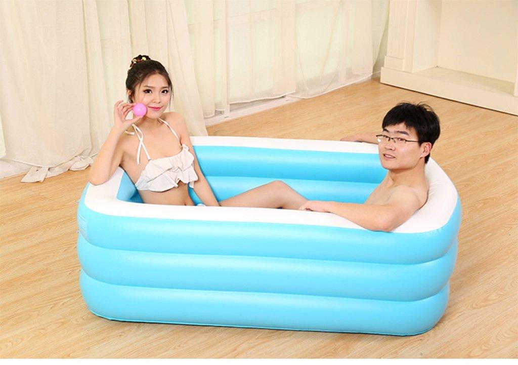 Verdickte Isolierung Falten Erwachsene Aufblasbare Wanne Kinder Waschbecken ( größe : 125\*85\*45cm ) dongyunhaishop