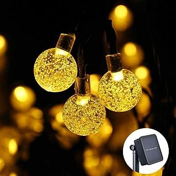 Weihnachtsbeleuchtung Aussen Led Preis.Solar Lichterkette Aussen Qedertek Led Solar Beleuchtung Mit 30 Kugeln Lichterketten Außen 6m 8 Modi Warmweiß Ip65 Wasserdicht Gartenbeleuchtung