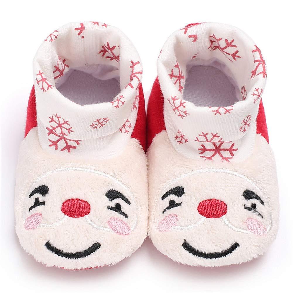 Infant Newborn Baby Girls Boys Christmas Boots Santa Claus Soft Sole Crib Prewalker Shoes Footwear