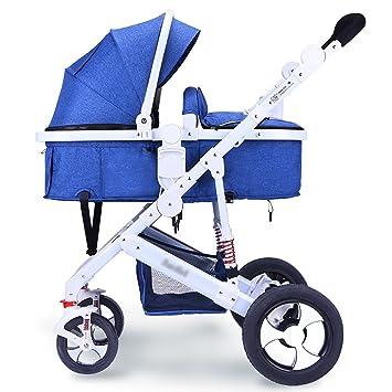 WYDM Cochecito de bebé Sentado o acostado Silla de Paseo Plegable Recién Nacidos Absorbente de Golpes