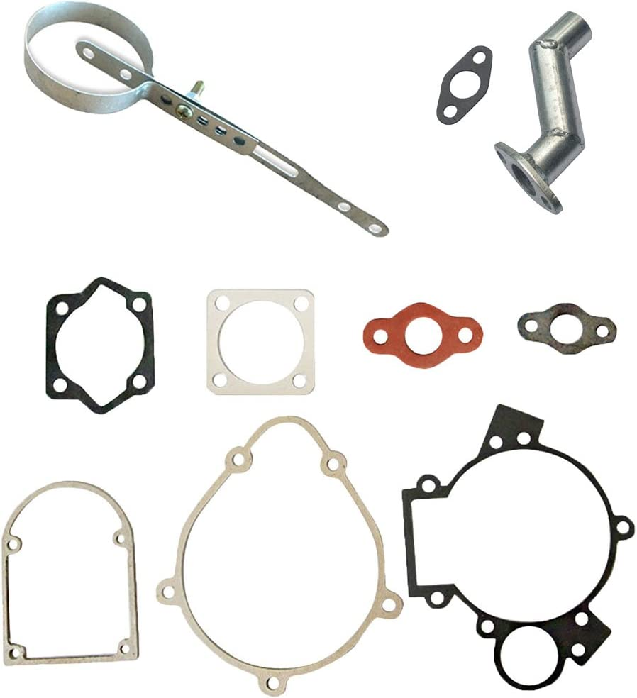 Muffler Clamp/&Intake Manifold/&Gasket Set For 66cc 80cc Motorised Bike Engine