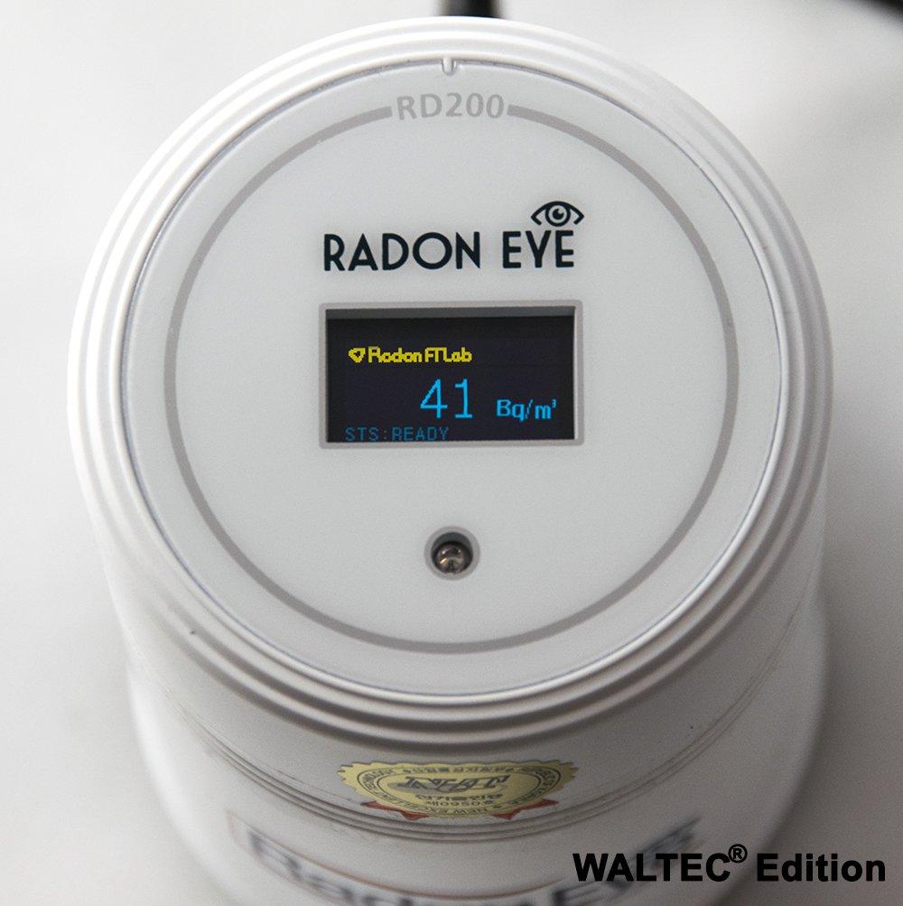waltec/® + Juego de radoneye | RD200/Radon Medidor/ handyapp instrucciones en alem/án Radon Medici/ón Consejos /El dispositivo profesional para su casa. Radon Eye Certificado USB Cable