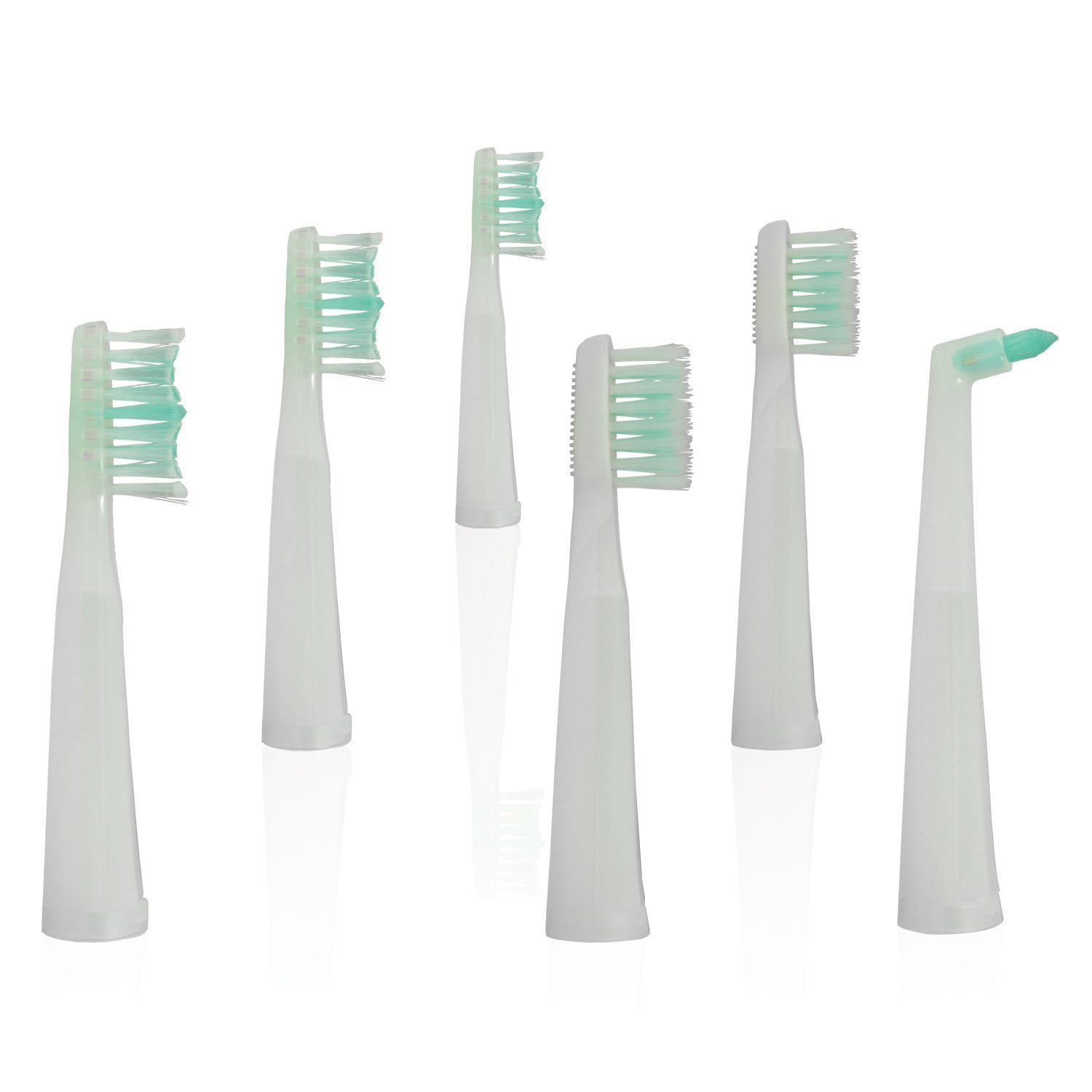 Sterline T80 Sonic Pulse Electric Rechargeable Toothbrush Replacement Heads, 6 Toothbrush Heads Replacements for Sterline Electric Toothbrush Model T80, White