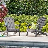 Cheap Hillary Dark Grey Acacia Wood Folding Adirondack Chair (2)