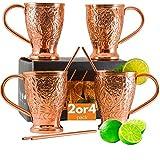 Moscow Mule Mugs Pure Copper Straw Stir