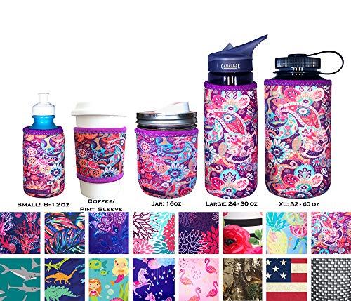 Koverz Neoprene 24-30 oz Water Bottle Insulator Cooler Coolie - Paisley ()