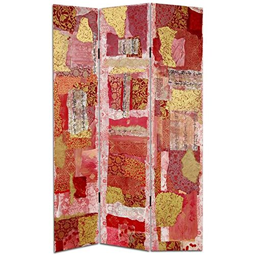 Oriental Furniture 6 ft. Tall Avant-Garde Collage Canvas Room Divider from ORIENTAL FURNITURE