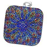 3dRose Danita Delimont - Patterns - Islamic Designs on Blue Pottery, Madaba, Jordan - 8x8 Potholder (phl_276903_1)