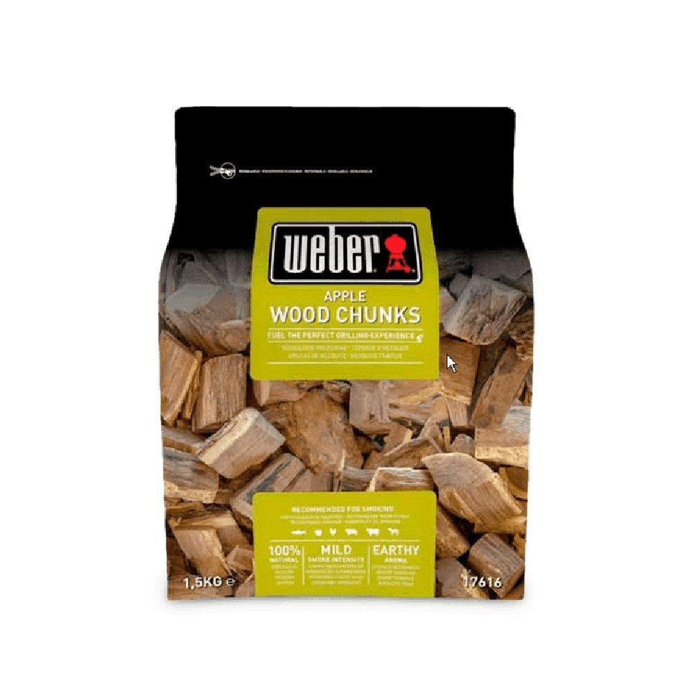 Weber Incense Chip Wood Chunks apple wood, brown, 17.8 x 8.9 x 30.5 cm, 17616