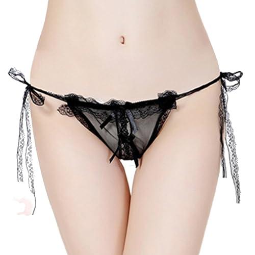 Czj-Innovation Mujer Cordón Bragas Thong Ropa interior Culottes – Tamaño Libre