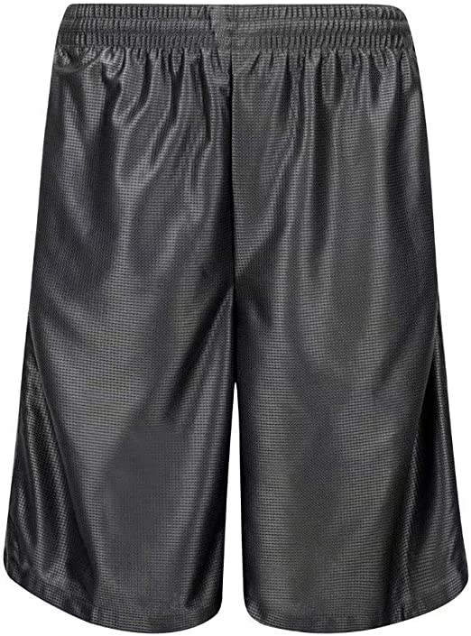 HQUEC Mens Cool Basketball Shorts Quick-Dry Gym Running Shorts with Side Pockets