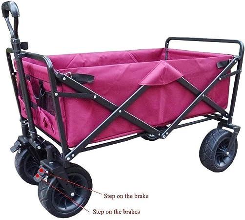 SOAR Carrito de Jardín 4 ruedas del carro del carro de jardín Playa Jardín carro plegable