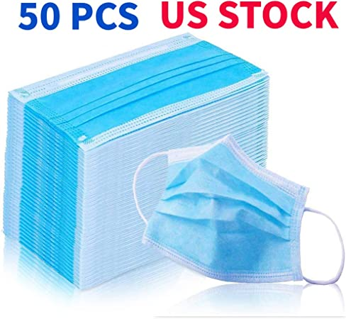 50 pcs disposable earloop face mask