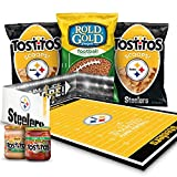 Pittsburgh Steelers NFL Party Box, Tostitos Chips & Dips and Rold Gold Pretzel Snacks