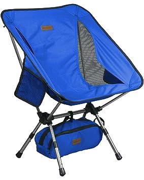 Trekology YIZI GO Silla de Camping portátil con Altura Ajustable: compacta, Silla súper Ligera Que se dobla y se transporta fácilmente, soporta ...