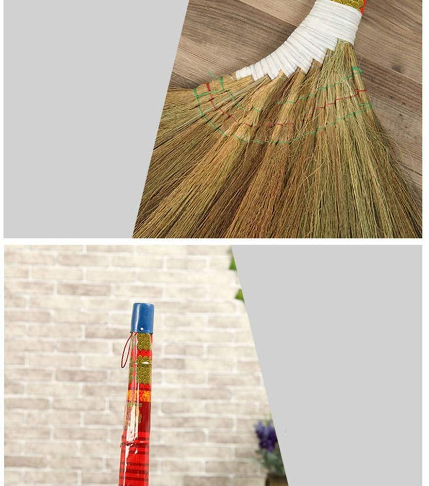 Zichen Long Handle Broom Household Cleaning Handmade Waterproof Low Carbon Wear Resistant Anti-Static Soft Wall-Mounted (Size : 98x55cm) (Size : 98x55cm) by Zichen