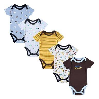 6b36f4081 JIAJIA Newborn Baby Boys Toddler Cotton Summer One-piece Onesies 5 ...