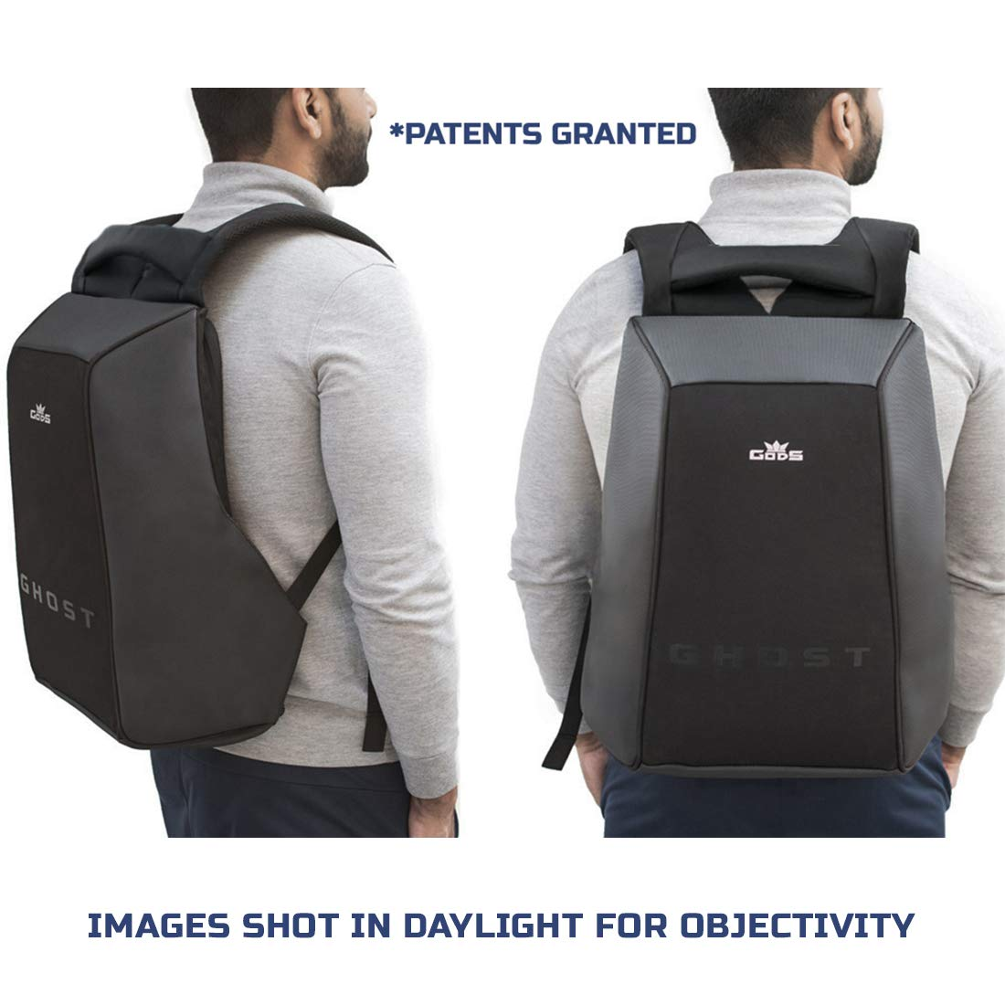 99125ce1d GODS Polyester 22 Ltr Black & Grey Laptop Backpack - Buy GODS Polyester 22  Ltr Black & Grey Laptop Backpack Online at Low Price in India - Amazon.in