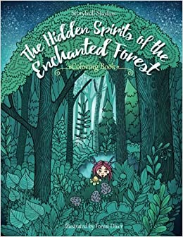 Amazon The Hidden Spirits Of Enchanted Forest A Magical Coloring Book For Adults And Kids Inspiration Relaxation 9781979365314 Julia Rivers