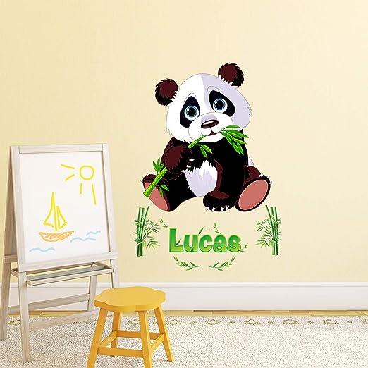 Adhesivos personalizados con nombre personalizado | Adhesivo para el nombre personalizado – Decoración de pared habitación infantil | 2 tableros de 30 x 25 cm y 45 x 30 cm – Pegatinas personalizables: Amazon.es: Hogar