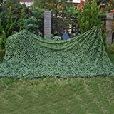 UNIQUEBELLA Camouflage Netting for Hunting Shooting Camping Tactical Hide Army Woodland Color 6.5ft*16ft(2m*5m)