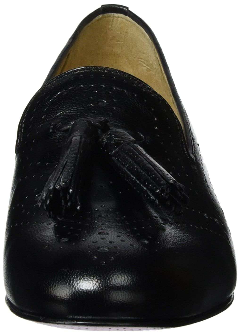 MELVIN & Schuhe HAMILTON MH HAND MADE Schuhe & OF CLASS Damen Mila 10 Slipper Schwarz (Salerno schwarz / schwarz Perfo M&h Ls-nat.) 433d31