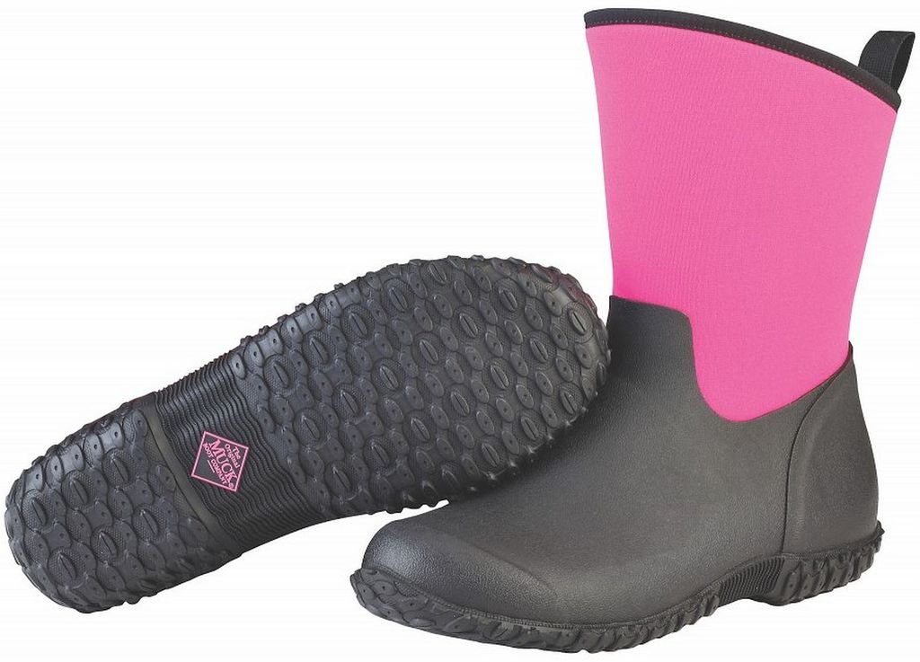 Muck Boot Women's Muckster 2 Mid Snow Boot, Black/Pink, 7 B US by Muck Boot
