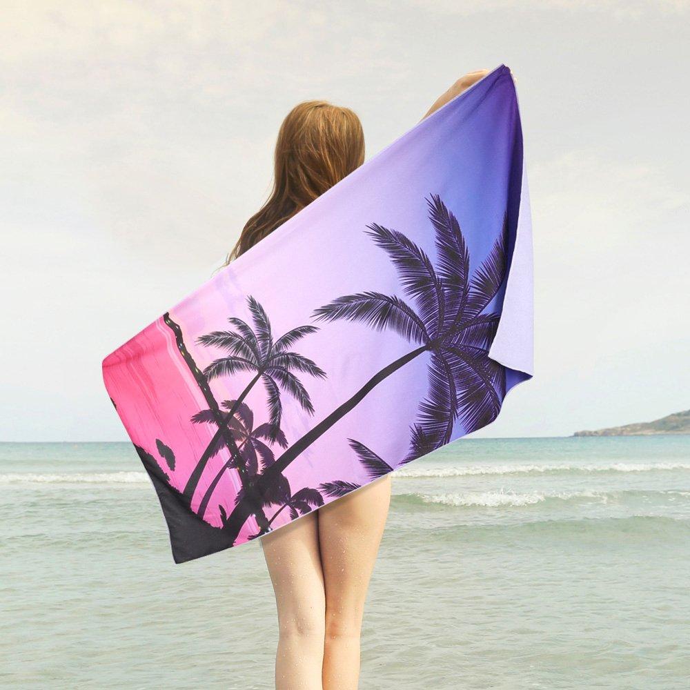 Amazon.com: Urijk Coconut Tree Microfiber Beach Towel, 30