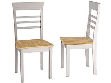2x Esszimmerstuhl Essstuhl Stuhl Madeira Lehnstuhl