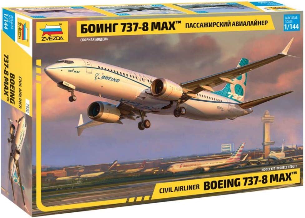 """Neu Zvezda 7026-1//144 Civil Airliner /""""Boeing 737-8 MAX/"""""""