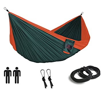 two person camping hammock   lightweight  pact hammock best for backpacking  beach  backyard  amazon    two person camping hammock   lightweight  pact      rh   amazon