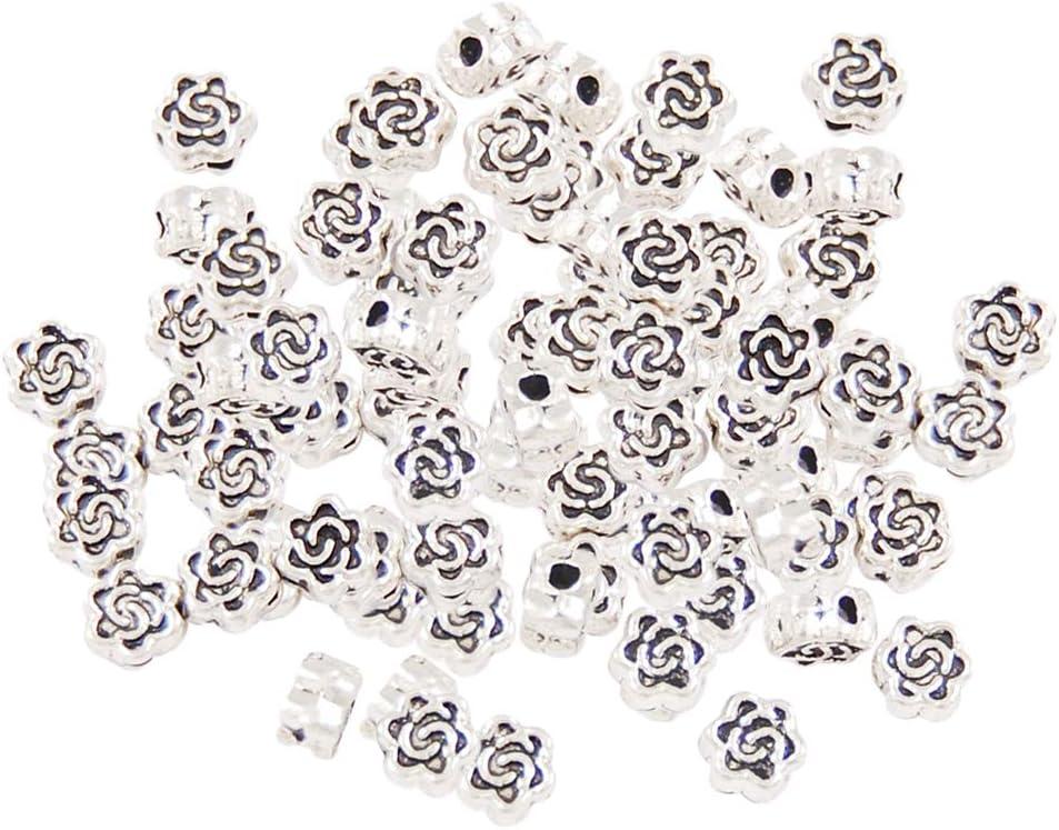 100pcs Espaciadoras de Piedras Preciosas Brillantes y Perlas de Concha de Perla de Concha, Hacer Propia Joyería de Estilo. - Plata