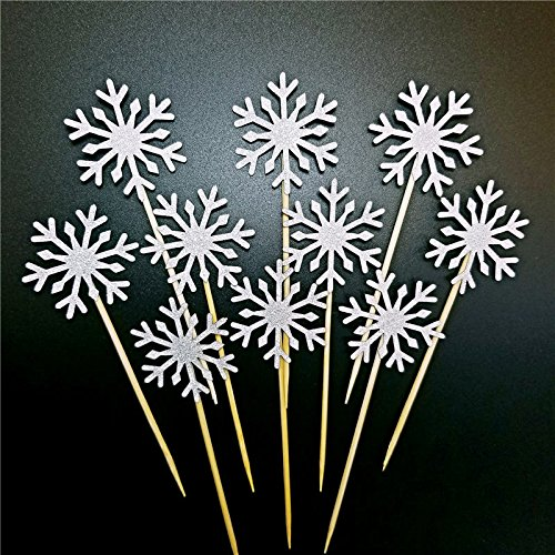 Corone Oro e Argento Toppers Decorati a Mano con 10 Glitter per Decorare Cupcake e Gelato