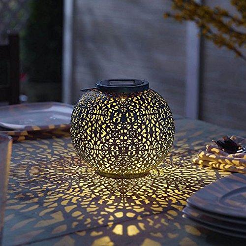 Riad Solar LED Outdoor Lantern - Blue/Teal by DermaPAD