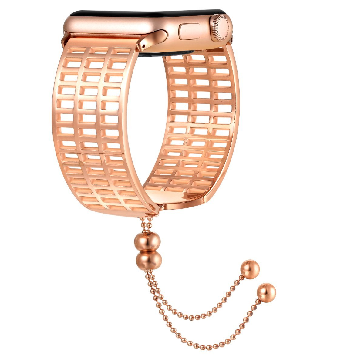fastgo for Apple Watchバンド38 mm 42 mm、2018 6月最新released UniqueステンレススチールLuxury Vintage Genuine Feminine交換用ストラップシリーズ3 / 2 / 1レディースガールズ調節可能 B07DHFN631 Rose Gold-38mm Rose Gold-38mm